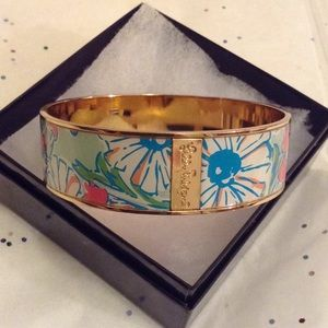 EUC Lily Pulitzer Pastel And Gold Bangle